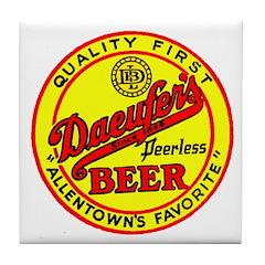 Daeufer's Beer-1941 Tile Coaster