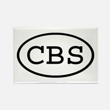 CBS Oval Rectangle Magnet
