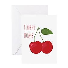 Cherry Bomb Greeting Cards