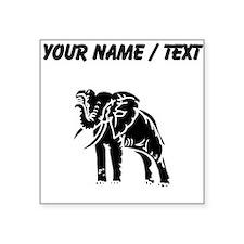 Custom Elephant Silhouette Sticker