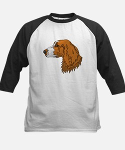 Irish Red and White Setter Baseball Jersey