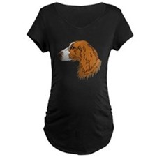 Irish Red and White Setter Maternity T-Shirt