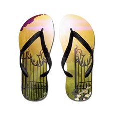 The gate to the land of dreams Flip Flops