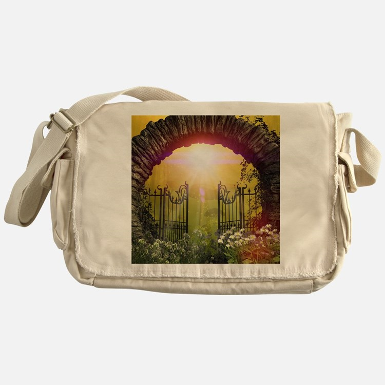 The gate to the land of dreams Messenger Bag