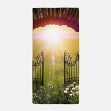 The gate to the land of dreams Beach Towel