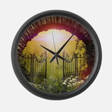 The gate to the land of dreams Large Wall Clock