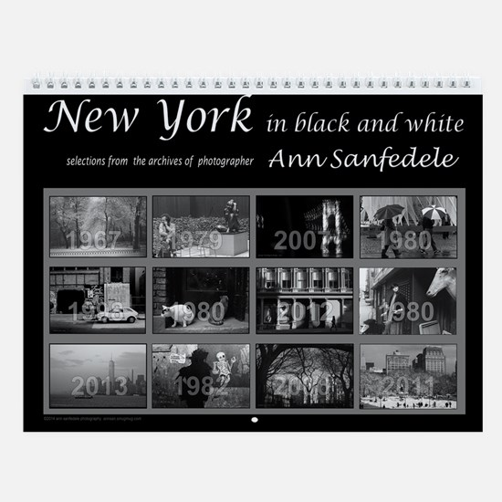 New York In Black And White Wall Calendar