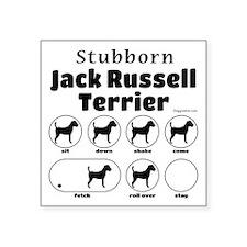 """Stubborn JRT v2 Square Sticker 3"""" x 3"""""""