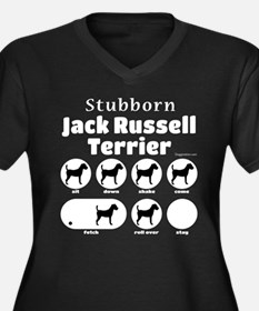 Stubborn JRT Women's Plus Size V-Neck Dark T-Shirt
