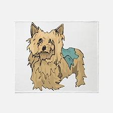 Australian Terrier Puppy Throw Blanket