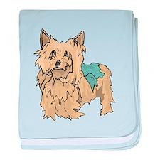 Australian Terrier Puppy baby blanket
