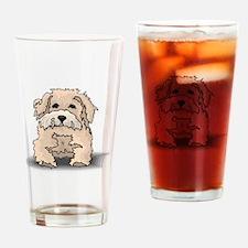 Glen of Imaal Terrier Puppy Drinking Glass