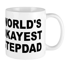 World's Okayest Stepdad Small Mug