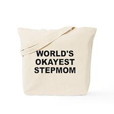 World's Okayest Stepmom Tote Bag