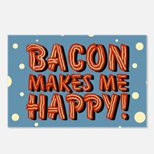 bacon-makes-me-happy_b.png Postcards (Package of 8