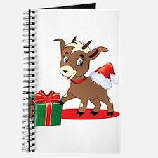 Little Goat Ready for Christmas Journal