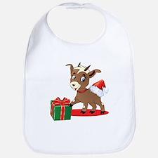 Little Goat Ready for Christmas Bib