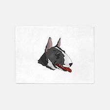 Miniature Bull Terrier 5'x7'Area Rug