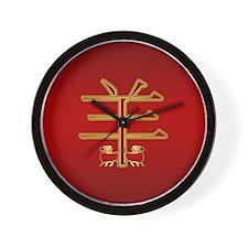 Chinese Zodiac Symbol Goat / Ram Wall Clock