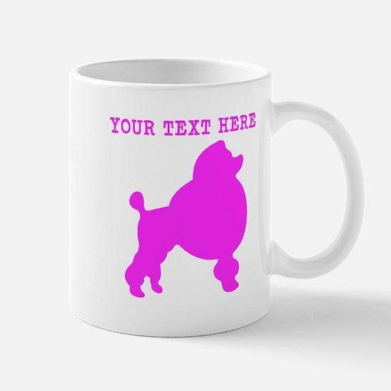 Pink Poodle (Custom) Mugs