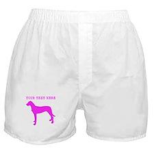 Pink Rhodesian Ridgeback (Custom) Boxer Shorts
