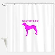 Pink Rhodesian Ridgeback (Custom) Shower Curtain