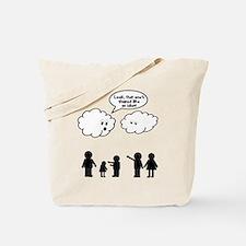 Cloud look shape idiot Tote Bag