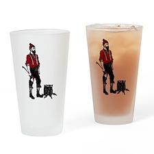 Lumberjack Drinking Glass