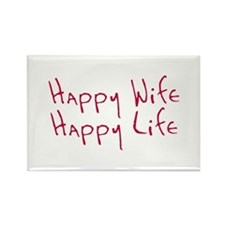 Happy wife happy life Rectangle Magnet