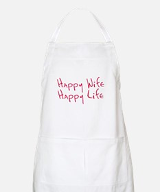 Happy wife happy life Apron