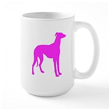 Pink Greyhound Silhouette Mugs