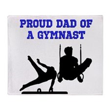 GYMNAST DAD Throw Blanket