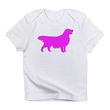 Pink Golden Retriever Silhouette Infant T-Shirt