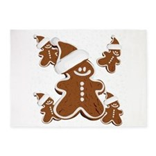 Holiday Gingerbread Man 5'x7'Area Rug