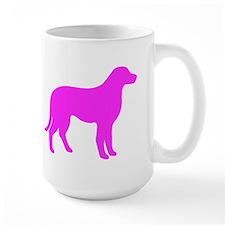 Pink Chesapeake Bay Retriever Silhouette Mugs