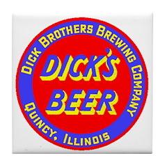 Dick's Beer-1934 Tile Coaster