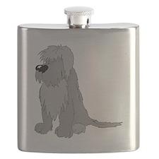 Polish Lowland Sheepdog Flask