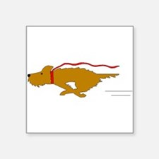 Dog Running Sticker