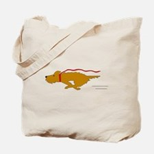Dog Running Tote Bag