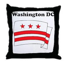 Washington DC Flag Throw Pillow