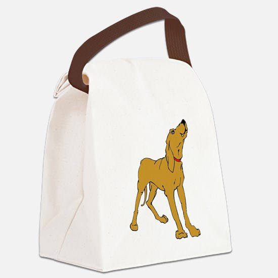 Redbone Coonhound Canvas Lunch Bag