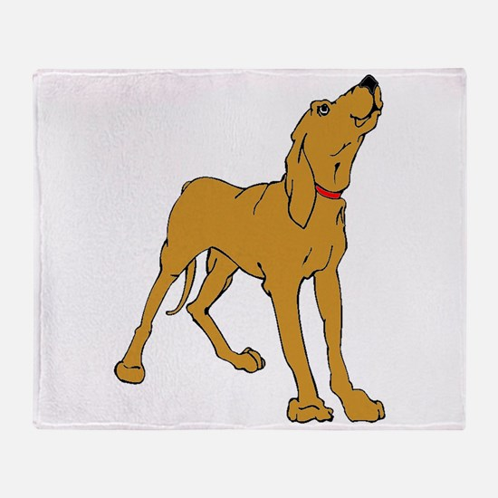 Redbone Coonhound Throw Blanket