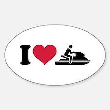 I love Jet ski racing Decal