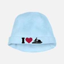 I love Jet ski racing baby hat
