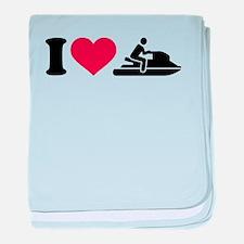 I love Jet ski racing baby blanket