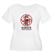 Shotokan Karate symbol and Kanji Plus Size T-Shirt