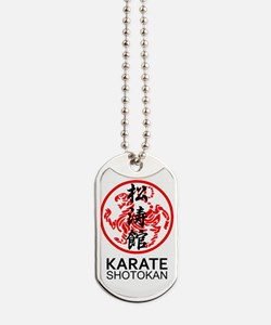 Shotokan Karate symbol and Kanji Dog Tags