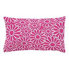 Daisies Pattern Hot Pink Pillow Case