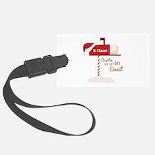Santa Email Luggage Tag