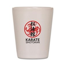 Shotokan Karate symbol and Kanji Shot Glass